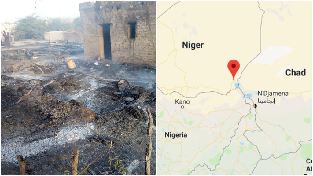 Boko Haram a attaqué le village de N'Guigmi, dans le sud-est du Niger, le 26mars. Photo prise par Lawan Boukar, un journaliste basé dans la région de Diffa.