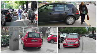 Avec le hashtag #EspacePublic, des habitants de Skopje publient des photos et des vidéos des incivilités remarquées près de chez eux.