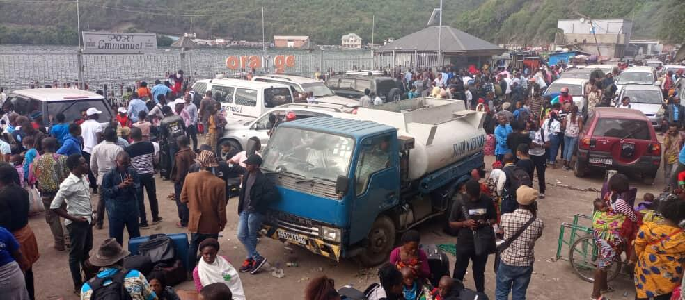 Photo prise au port de Goma ce jeudi 27 mai.