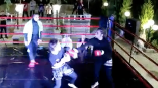 A video published on May 27, 2021 on Telegram shows an underground female MMA fight in Iran.