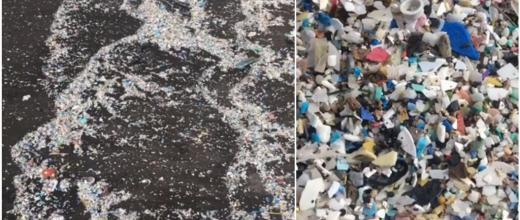 Small pieces of plastic washed ashore a beach in Tenerife in the Canary Islands in late March 2019. (Photo: María Celma Argaluza)