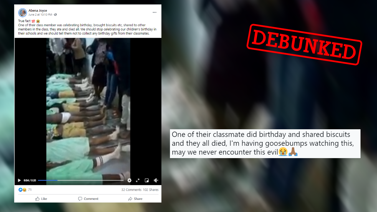 These African children did not die after eating poisoned birthday treats at school