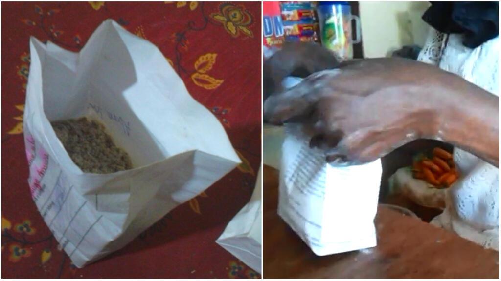 Ces deux images, prises par notre Observatrice entre fin août et début septembre, montrent des sachets en papier provenant d'une boutique de Kigali, la capitale rwandaise.