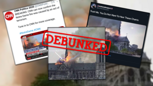 Several online accounts shared false or misleading claims about the Notre-Dame fire in Paris on Monday evening.
