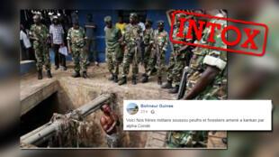 Cette photo montre t-elle vraiment un militaire guinéen torturé par d'autres militaires guinéens ?