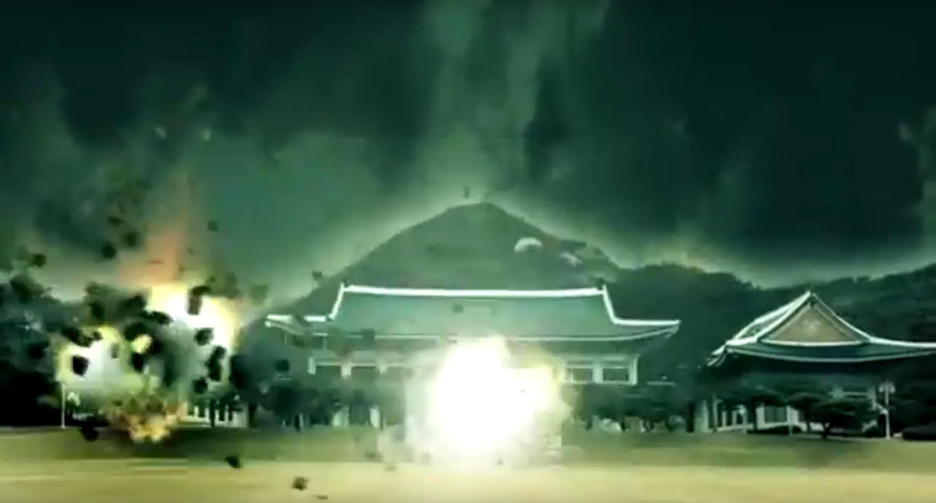 Capture d'écran de la vidéo de propagande.