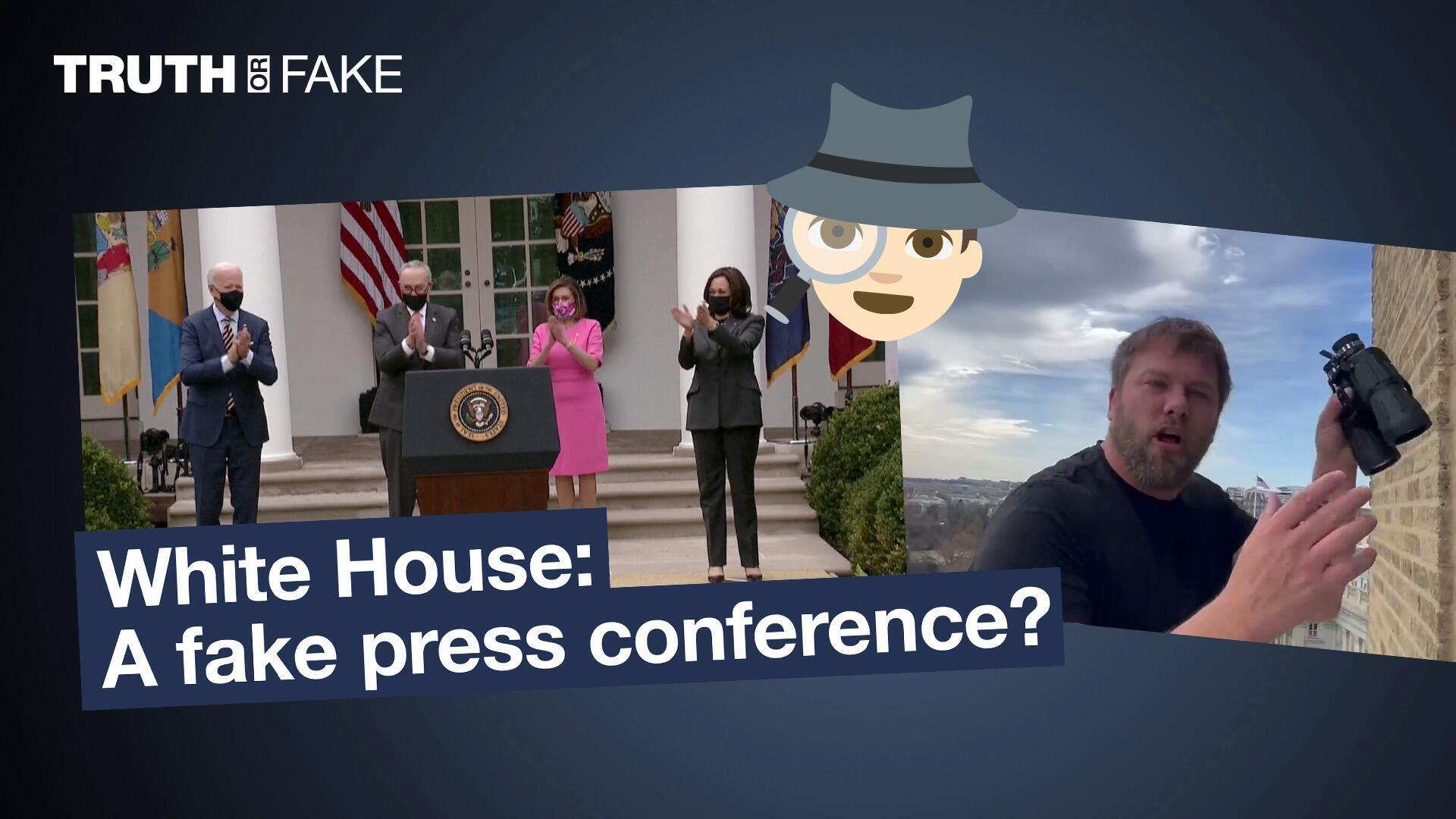 White House: A fake press conference at the White House?