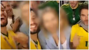 Une vidéo virale de supporters de la Seleçao encourageant une jeune femme étrangère à scander avec eux des chants sexistes, a fait le tour de la presse internationale cette semaine. Captures d'écran / Youtube.