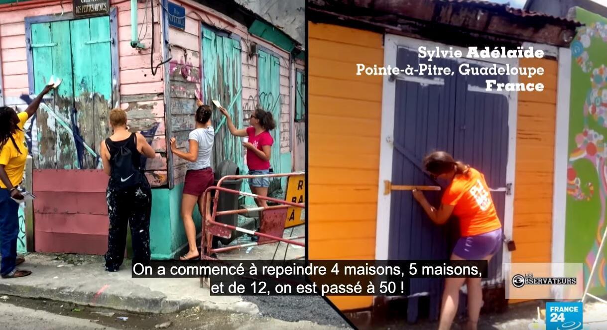 Coups de peinutres et réparations, ces habitants de Pointe-à-Pitre ont rénové leurs quartiers.