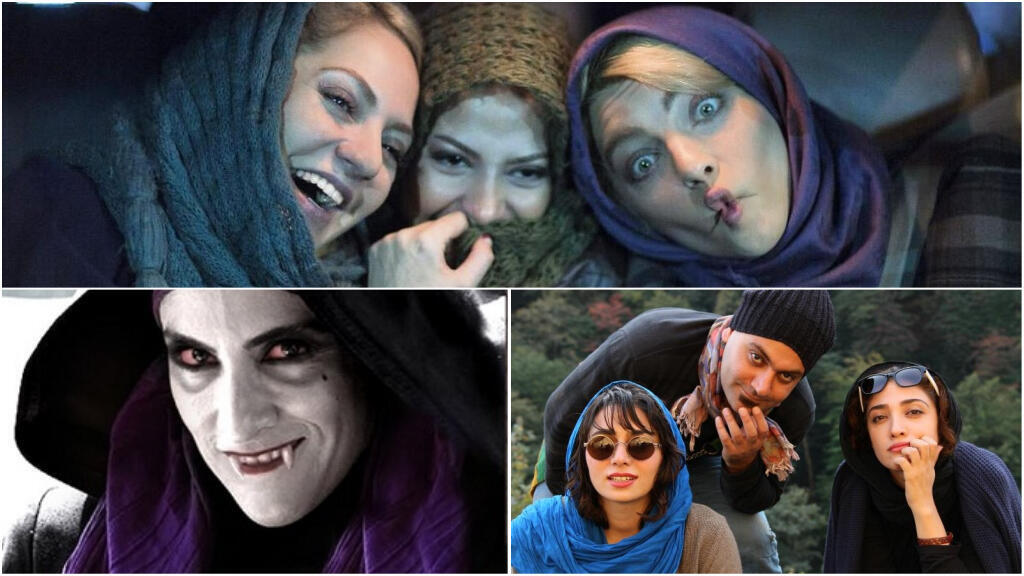 Stills from Iranian films.