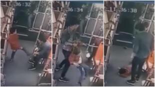 ضرب و شتم یک کودک در اتوبوس در چین