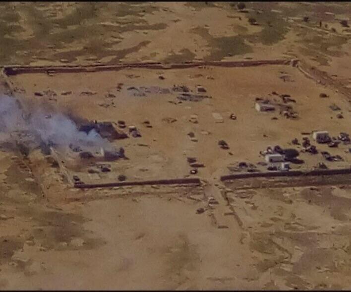 Image satellite du camp militaire de Boulkessi au Mali publiée sur Twitter par un internaute.