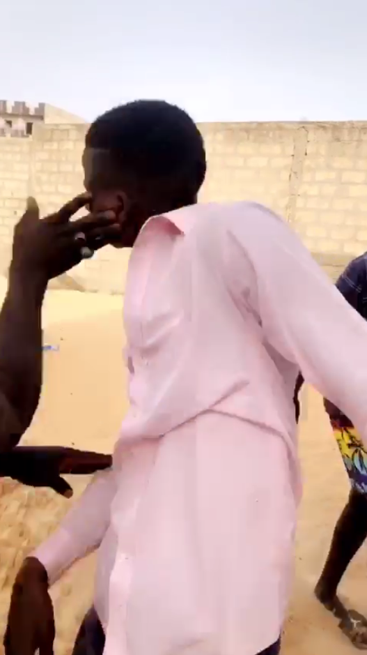 A group of men assaulted this man on June 7 in Dakar.