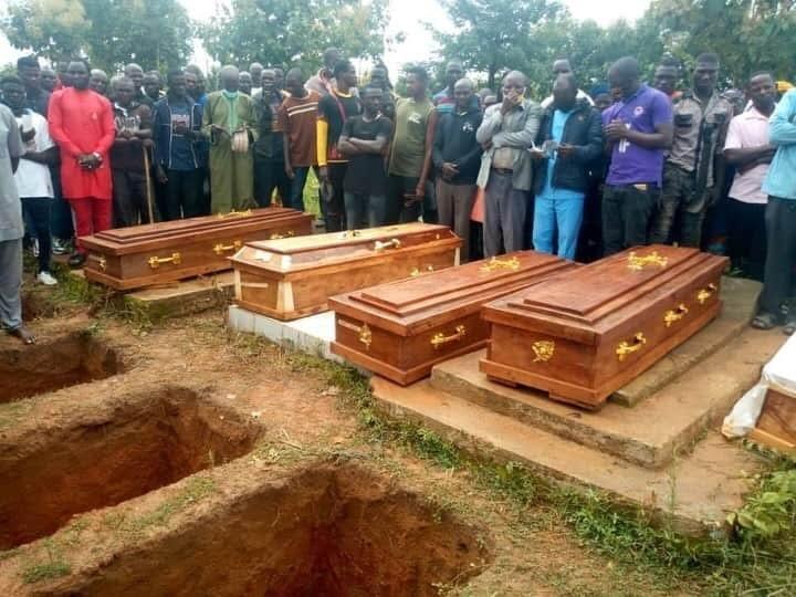 Funerals followed an attack on the village of Gora Gan on July 20. (Photo: Twitter/Steven Kefason)