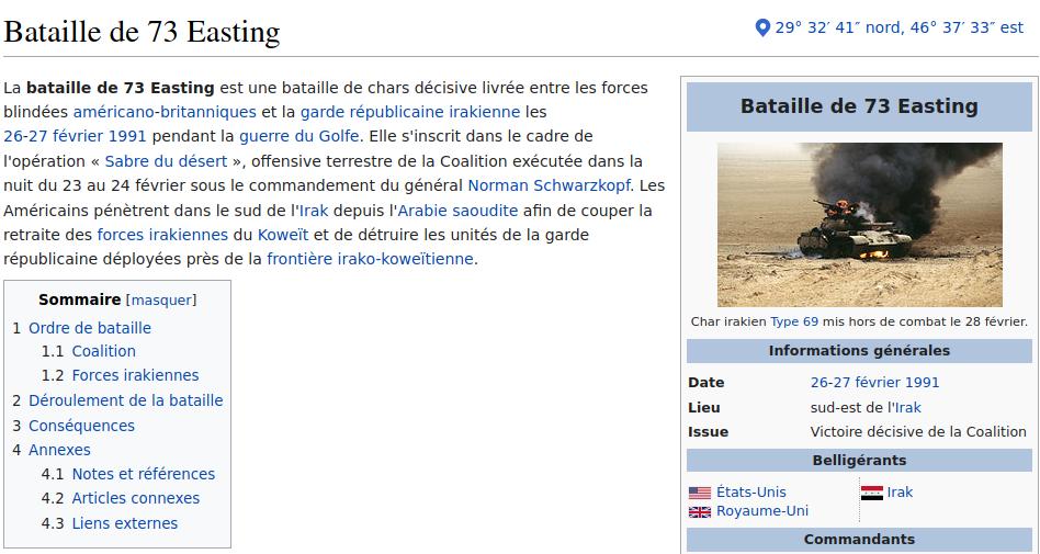 Capture d'écran Wikipédia.