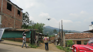 A drone completes a test flight between Cali, Colombia and Montebello, located six kilometres away Daniel Salamanca took all the photos in this article.