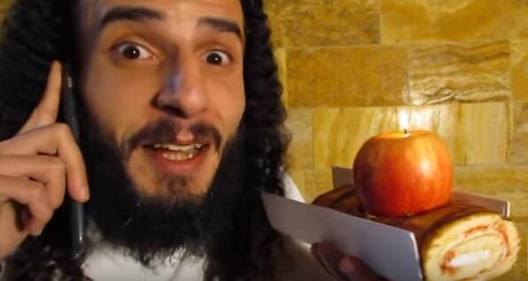 لقطة من فيديو لأحمد مساد على موقع يوتيوب