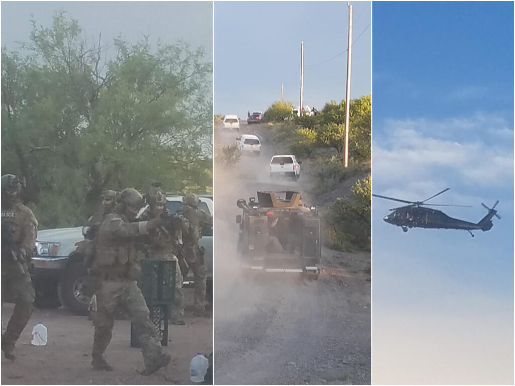 Volunteers at Byrd Camp near Arivaca, Arizona managed to capture just a few images of the July 31, 2020 Border Patrol raid before agents seized their cellphones.
