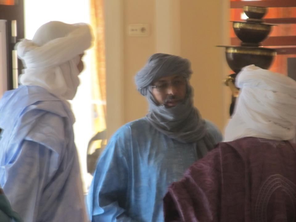 Leaders from the MNLA, Ansar Dine and the Malian government chat in Ouagadougou, where they met for negotiations.