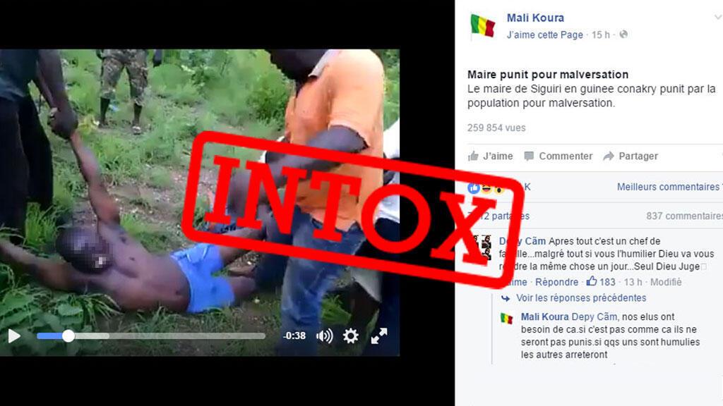 Une vidéo datant de 2014 et prise à Siguiri en Guinée refait surface mais dans un faux contexte sur une page Facebook malienne.