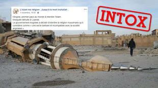 """Capture d'écran d'une des photos partagées sur la page """"L'islam ma religion"""" le 1er novembre."""