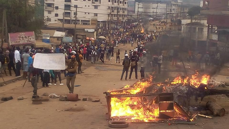 The town of Bamenda, in western Cameroon, on Monday afternoon. Photo published by Charles Charlo on Facebook (via Storyful).