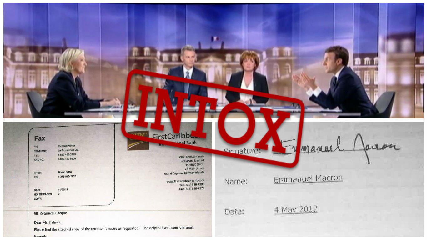 Après le débat opposant Marine Le Pen et Emmanuel Macron, des documents douteux concernant un prétendu compte off-shore du candidat d'En Marche ! ont circulé sur les réseaux sociaux.