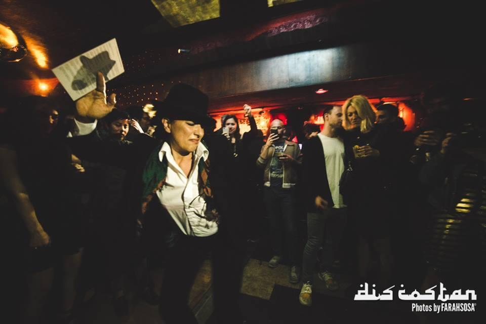 Amitis Motevalli, an Iranian artist, dances during a Discostan party. (Photo credit: Farah Sosa)