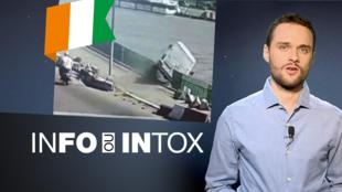 Un accident dramatique de taxi collectif en Côte d'Ivoire ? Au mois d'octobre, une rumeur est devenue une fausse information largement relayée. Découvrez comment dans Info/Intox.
