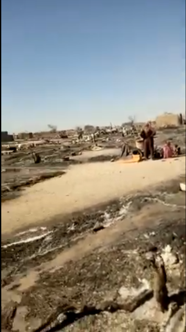 Damage after the attack of Boko Haram in Toumour, Niger.