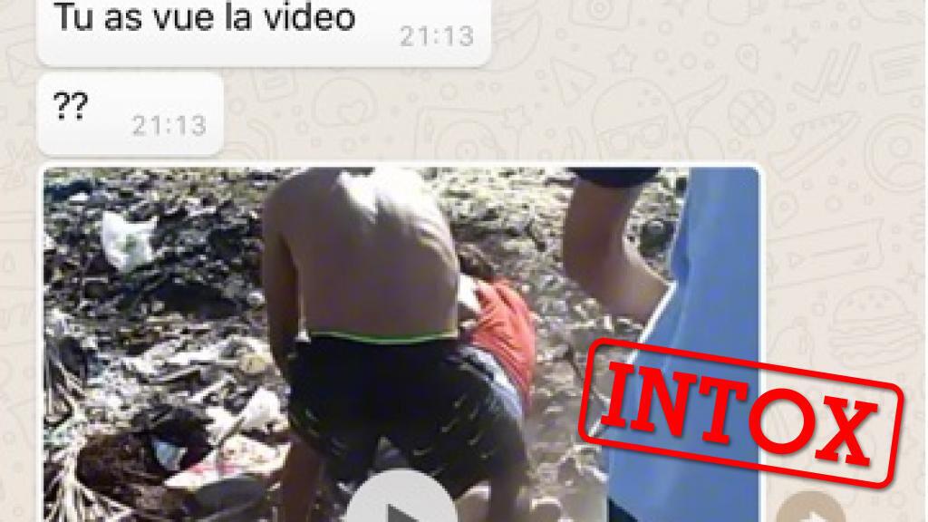 Capture d'écran WhatsApp transmise par notre Observateur au Maroc, montrant soi-disant une vidéo de lynchage homophobe au Maroc.