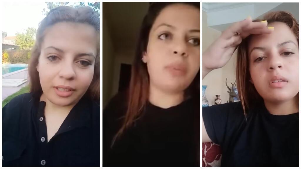 صورة شاشة من بعض الفيديوهات التي نشرتها رضوى محمد.