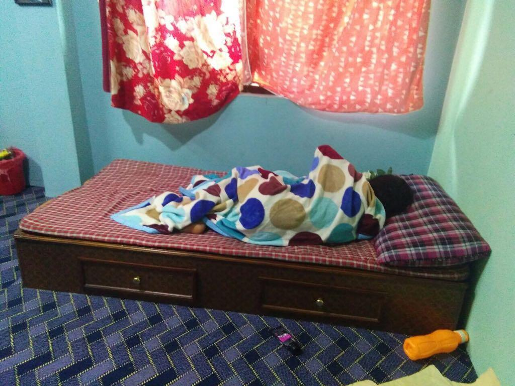 A Nepalese girl forced to stay in her room for 12 days after she got her first period. Photo credit: our Observer.