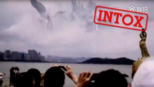 En Chine, des internautes font passer une publicité raccourcie pour un phénomène surnaturel.