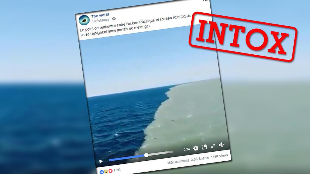 Cette image incroyable montrerait le point de rencontre de deux océans selon de nombreux internautes... mais c'est plus complexe que ça.