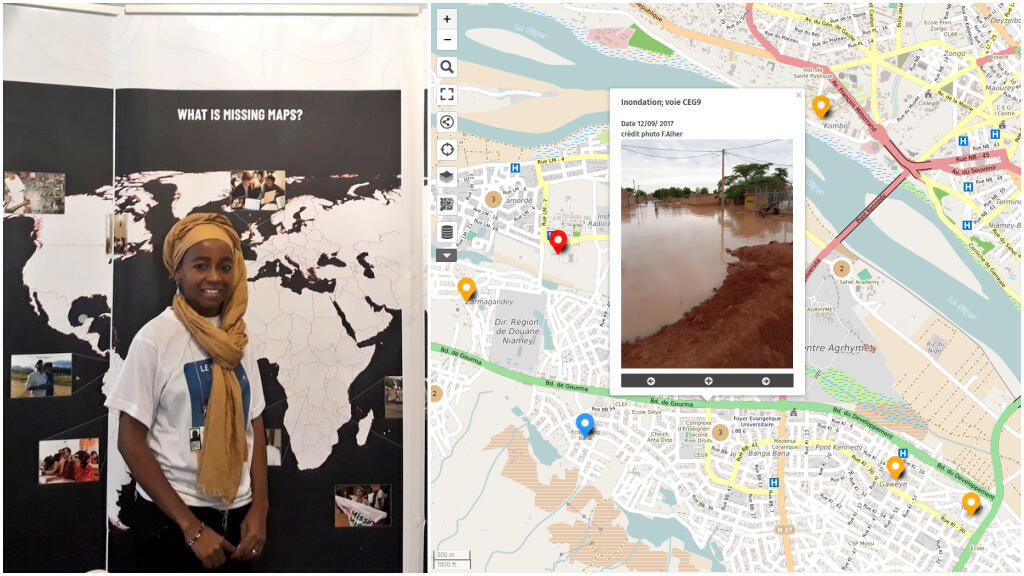 This screengrab shows the map created by Fatiman Alher, which is hosted by Open Street Map.