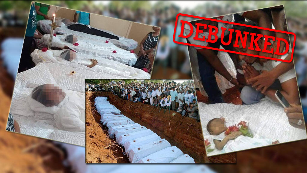 Misleading photos claiming to show victims of the Sri Lankan bombings circulated online.