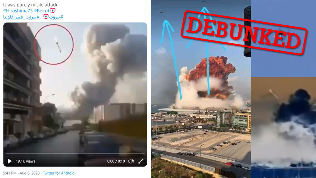 Photos and videos manipulated to include missiles or drones have been shared widely on social media. (Photos: Twitter)