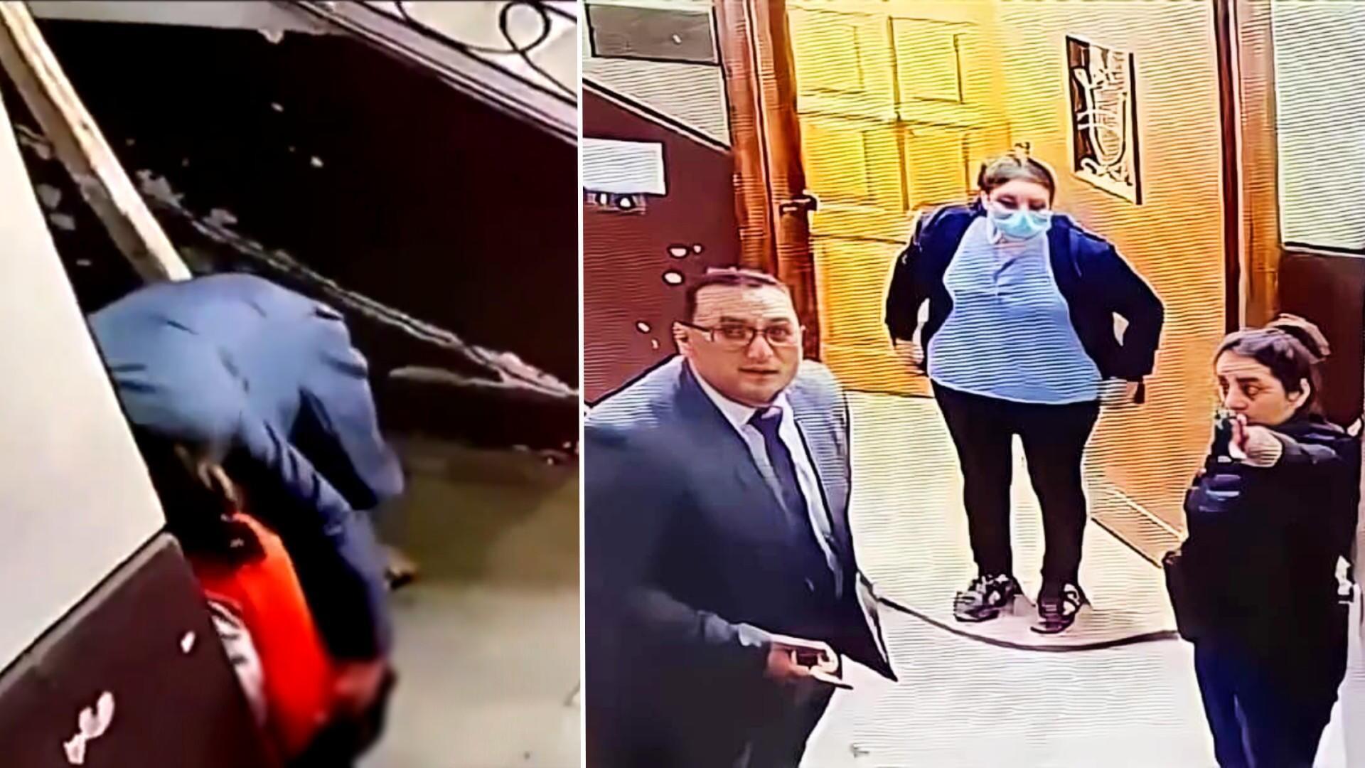 Grâce à une caméra de surveillance, une femme (droite) est intervenue de justesse pour sauver une fillette d'un agresseur sexuel. Cela s'est passé dans un quartier huppé du Caire, en pleine journée.
