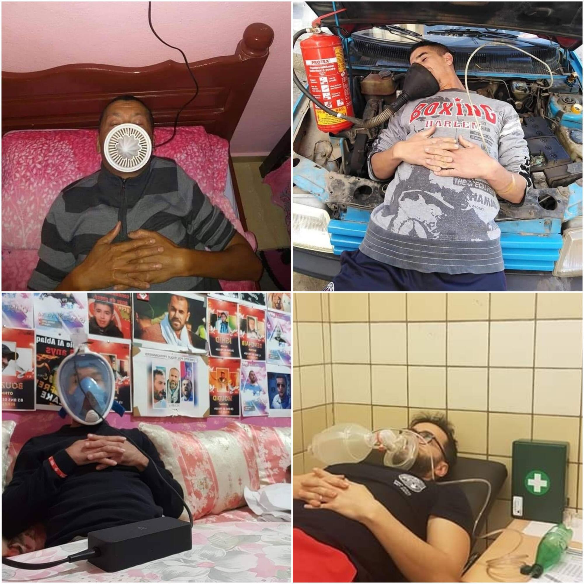 Les photos parodiques prises par les internautes dénonçant la mauvaise foi de la Délégation de l'administration des prisons