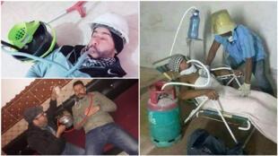 Images parodiques postées par les internautes marocains dénonçant la mauvaise foi de la Délégation de l'administration des prisons. Publiées sur Facebook.
