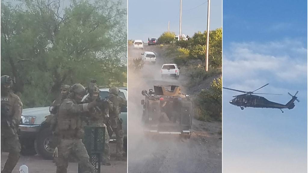 Les bénévoles du camp de Byrd près de Arivaca, en Arizona, ont réussi à capturer quelques images du raid de la patrouille frontalière du 31 juillet avant que les agents ne saisissent leurs téléphones portables.