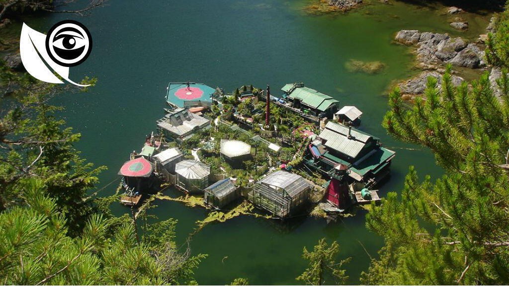 'Freedom Cove', the eco-friendly island home of Canadian couple Catherine King and Wayne Adams. Photo published on Catherine King's Facebook page.
