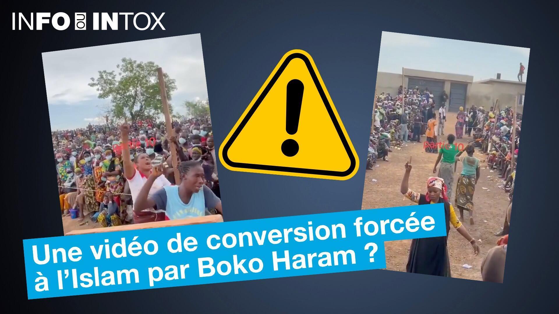 Une vidéo de conversion forcée à l'islam par Boko Haram ?