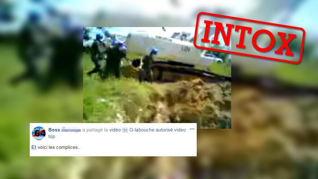 Cette vidéo circule sur plusieurs groupes Facebook en RD Congo afin de faire croire que, dans le pays, des soldats de l'ONU jettent des cadavres. Nous vous expliquons d'où provient cette vidéo.