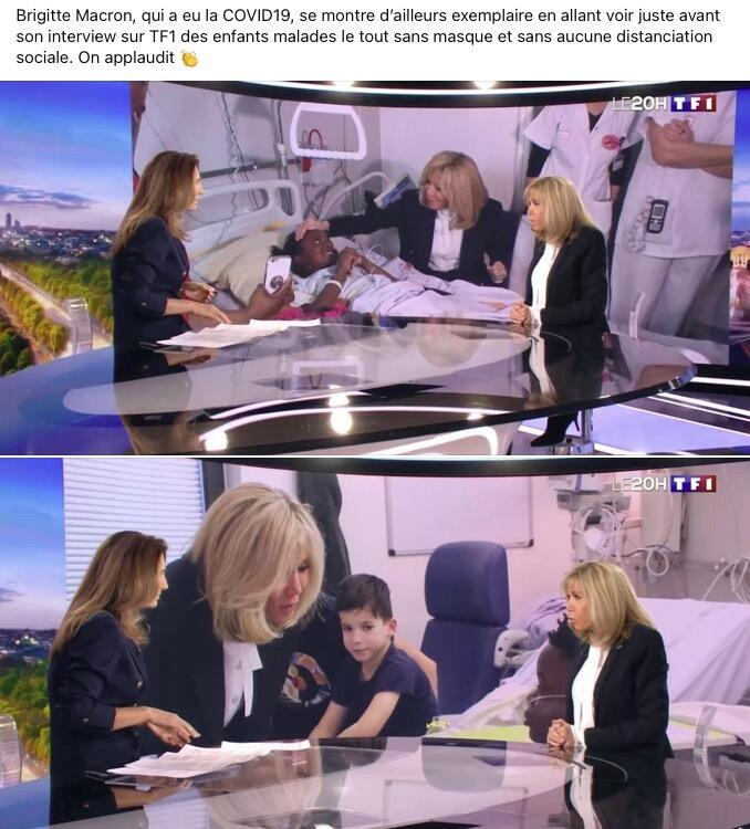 Publication mettant en cause Brigitte Macron