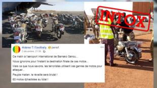 Une livraison de motos à l'aéroport de Bamako a suscité tous les fantasmes au Mali.