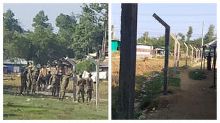 Fences are being built in the Kutupalong camp. (Photo: Ro Sawyeddollah)
