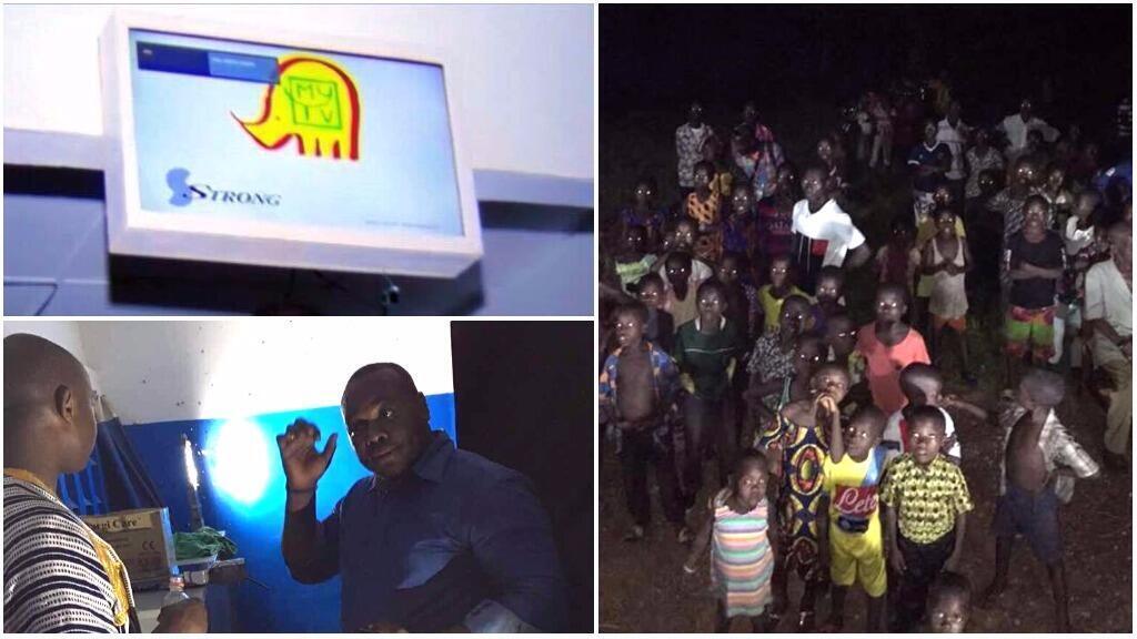 Ange Frédérick Balma, fondateur de l'entreprise ivoirienne Lifi-LED, a équipé le village de Drongouiné d'un dispositif permettant non seulement d'avoir  la télévision et internet grâce à la lumière.