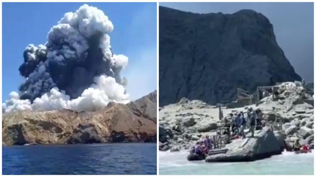Des images amateurs prises par des rescapés montrent l'éruption - Crédits : Allessandro Kauffmann et Michael Schade